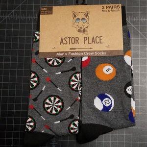 Other - Mens crew socks 2 pair pack darts & billiard balls